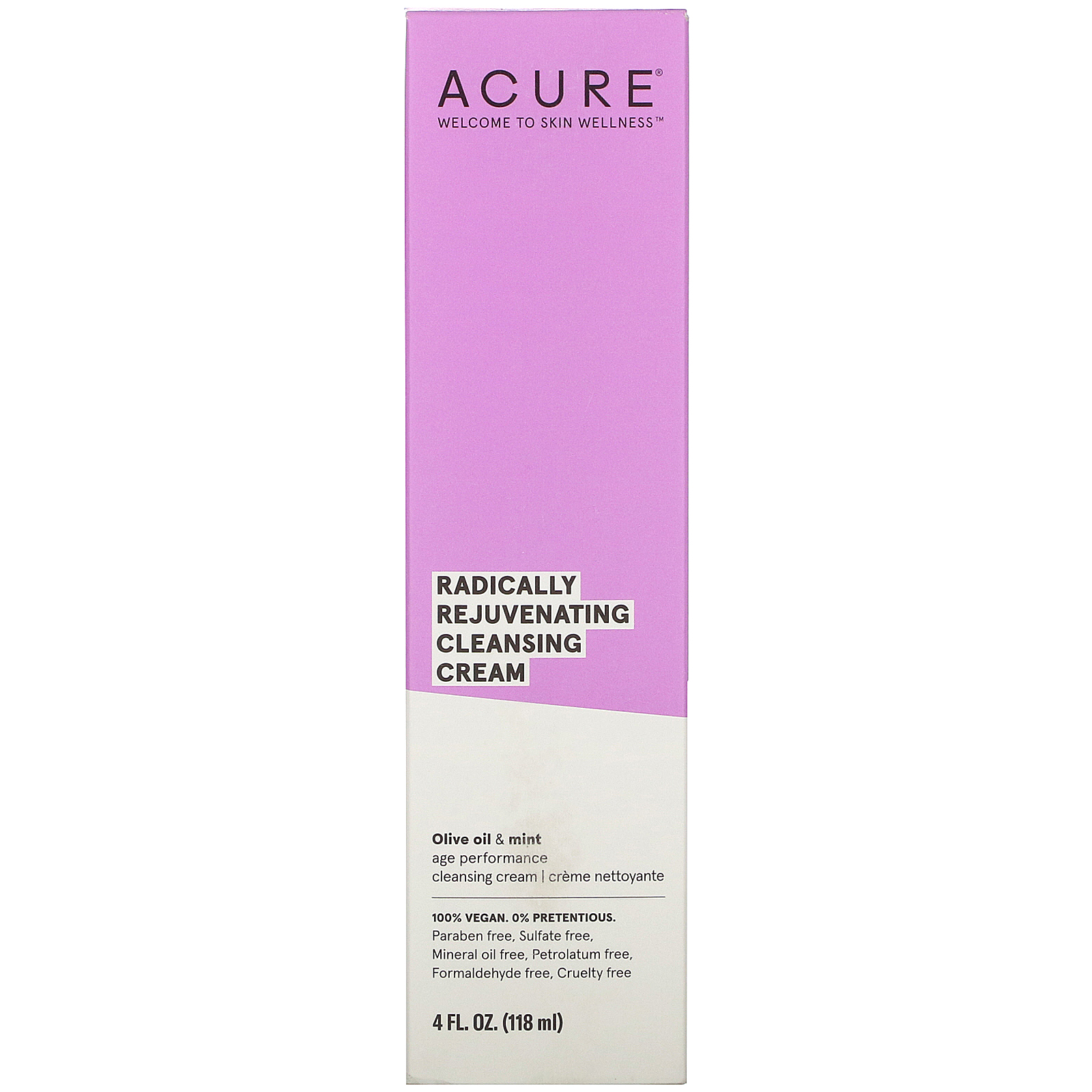 Acure, Radically Rejuvenating Cleansing Cream, 4 Fl Oz