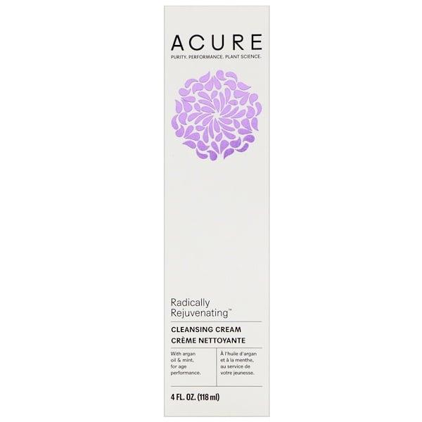 Acure, 劇的に若返る、クレンジングクリーム、4 fl oz (118 ml)