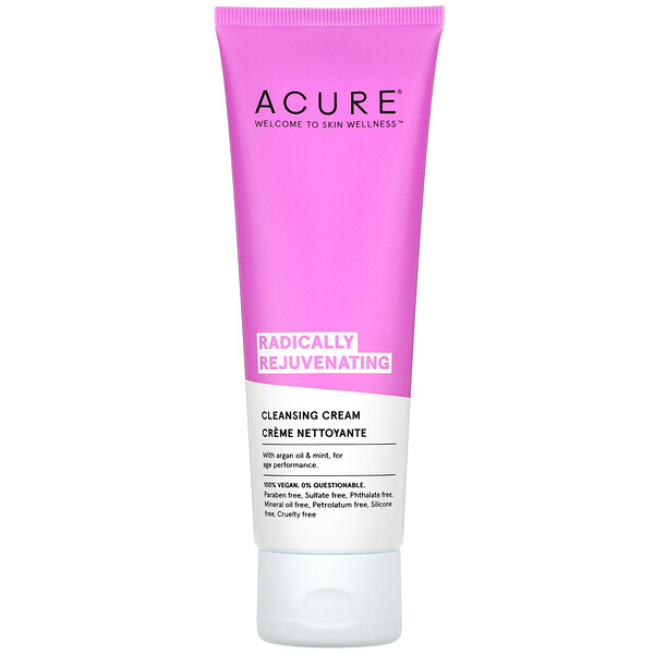 Acure, Radically Rejuvenating Cleansing Cream, 4 fl oz (118 ml)