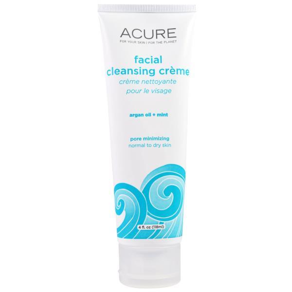 Acure Organics, Facial Cleansing Creme, Argan Oil + Mint, 4 fl oz (118 ml)