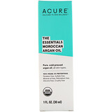 Отзывы о Acure, The Essentials Moroccan Argan Oil, 1 fl oz (30 ml)