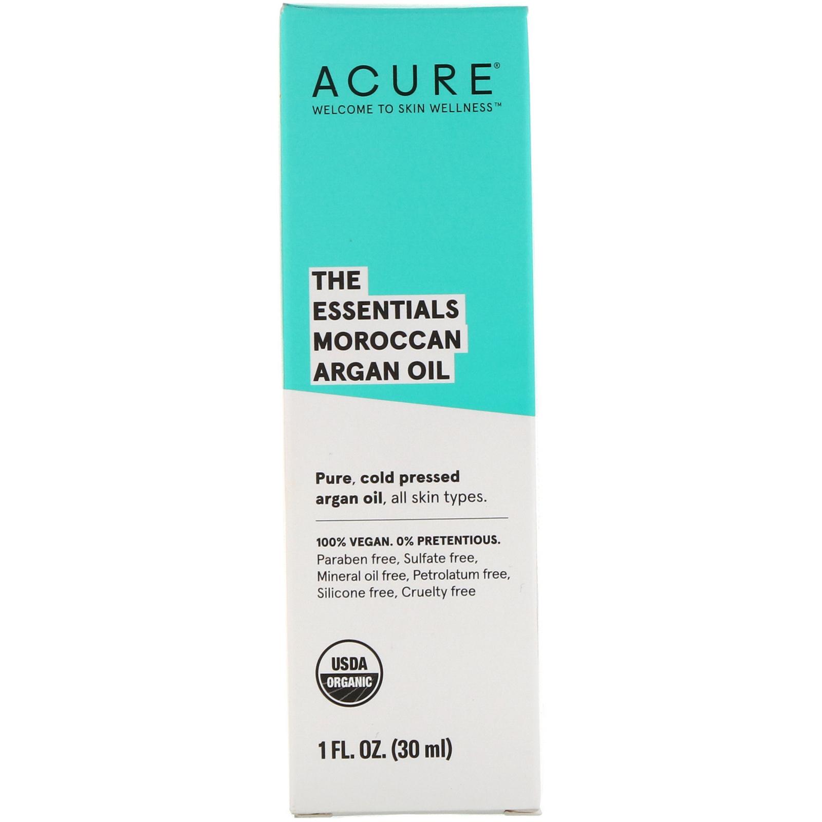 Acure, (2 Pack) The Essentials Moroccan Argan Oil, 1 Fl Oz