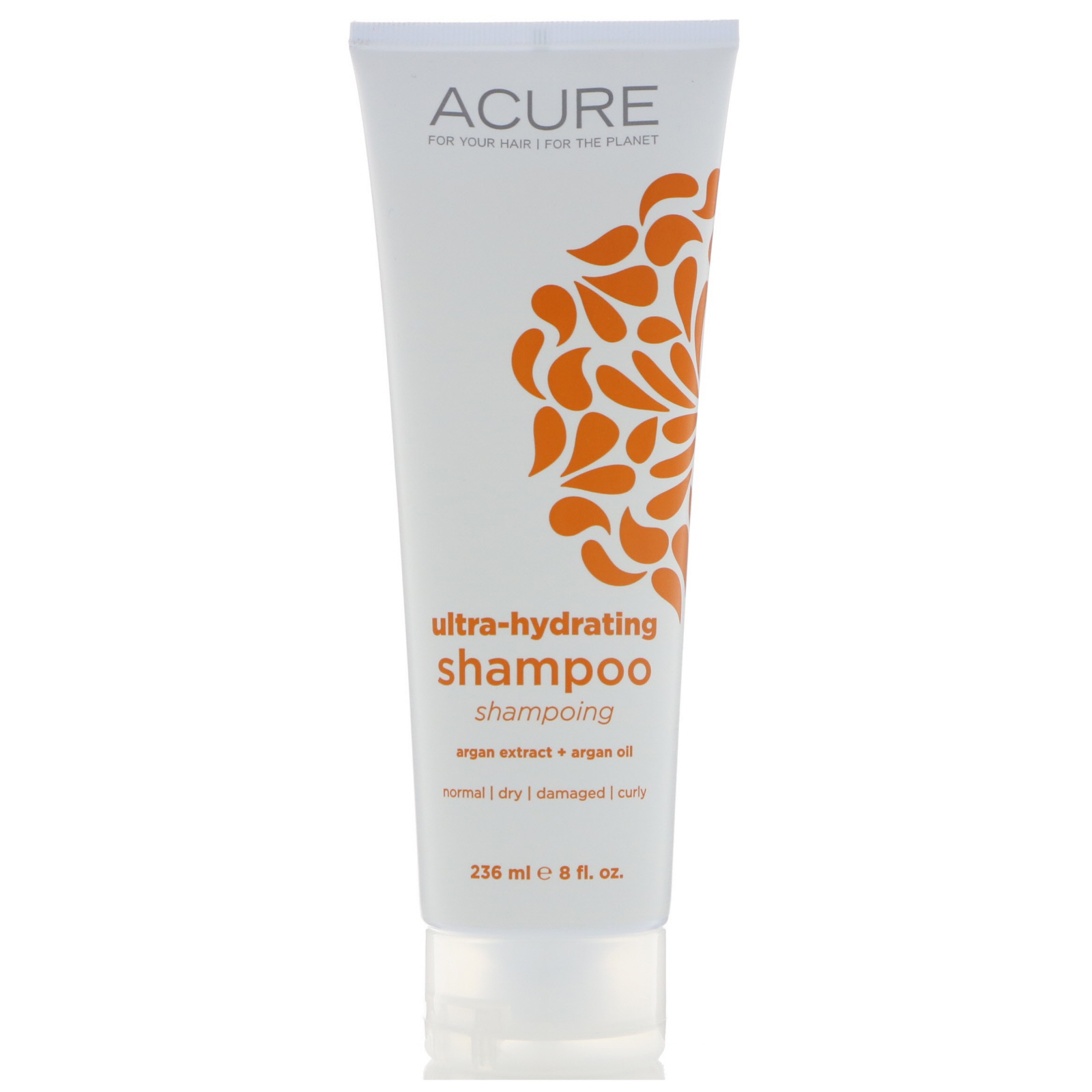 Acure Ultra Hydrating Shampoo Argan Extract Oil 8 Fl Oz Clear Complete Soft Care Men 340 Ml