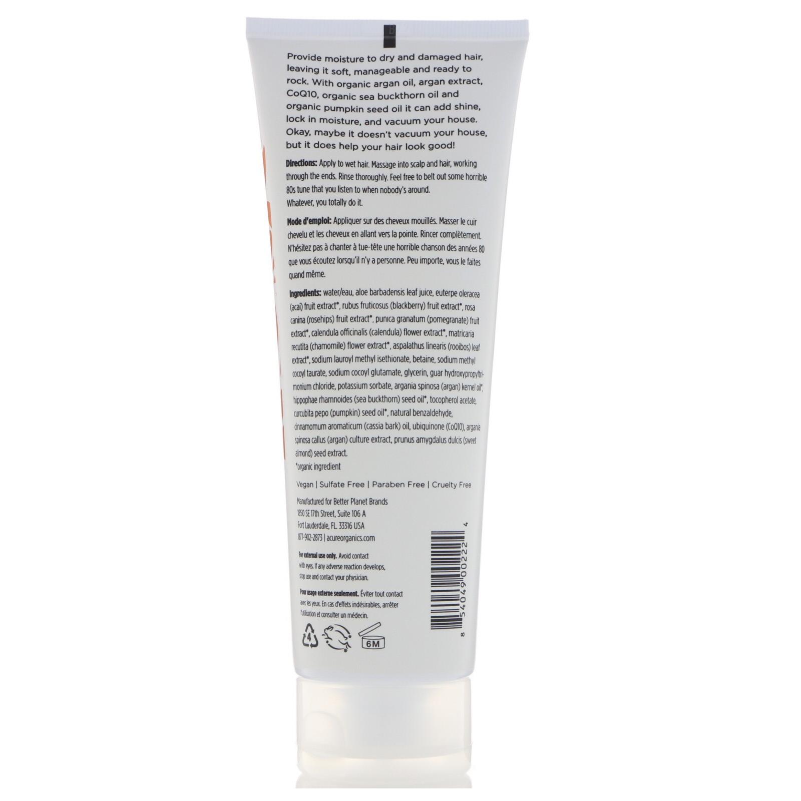 Acure, Ultra-Hydrating Shampoo, Argan Extract + Argan Oil