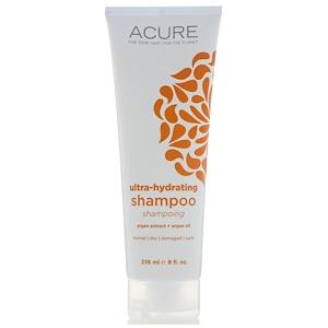Acure Organics, Ultra-Hydrating Shampoo, Argan Extract + Argan Oil, 8 fl oz (236 ml) купить на iHerb