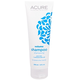 Acure Organics, Volume Shampoo, Pure Mint + Echinacea Stem Cell, 8 fl oz (236 ml)