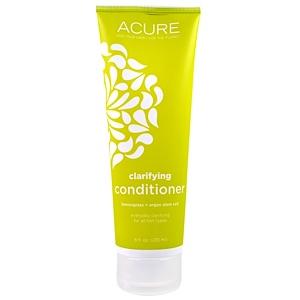 Acure Organics, Очищающий кондиционер: лемонграсс + стволовые клетки арганы, 235 мл купить на iHerb