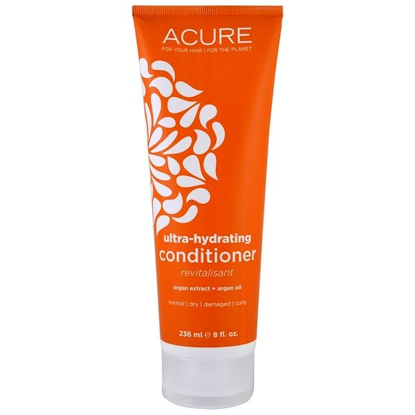Acure, Ultra-Hydrating Conditioner, Argan Extract + Argan Oil, 8 fl oz (236 ml) (Discontinued Item)