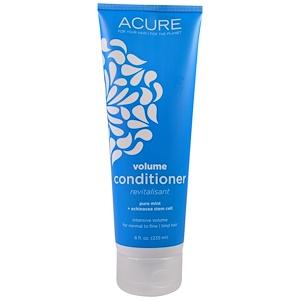 Acure Organics, Придающий объем кондиционер, Свежая мята+ стеблевые клетки эхиноцеи, 235 ml