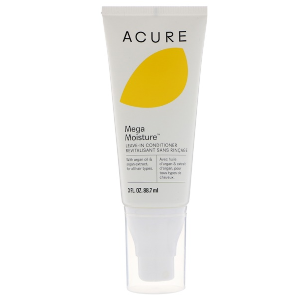 Acure, Mega Moisture, Leave-In Conditioner, 3 fl oz (88.7 ml) (Discontinued Item)