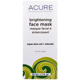 Acure Organics, Brightening Face Mask, 1.7 oz (50 ml)