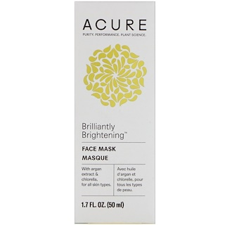 Acure Organics, Brilliantly Brightening, Face Mask, 1.7 fl oz (50 ml)