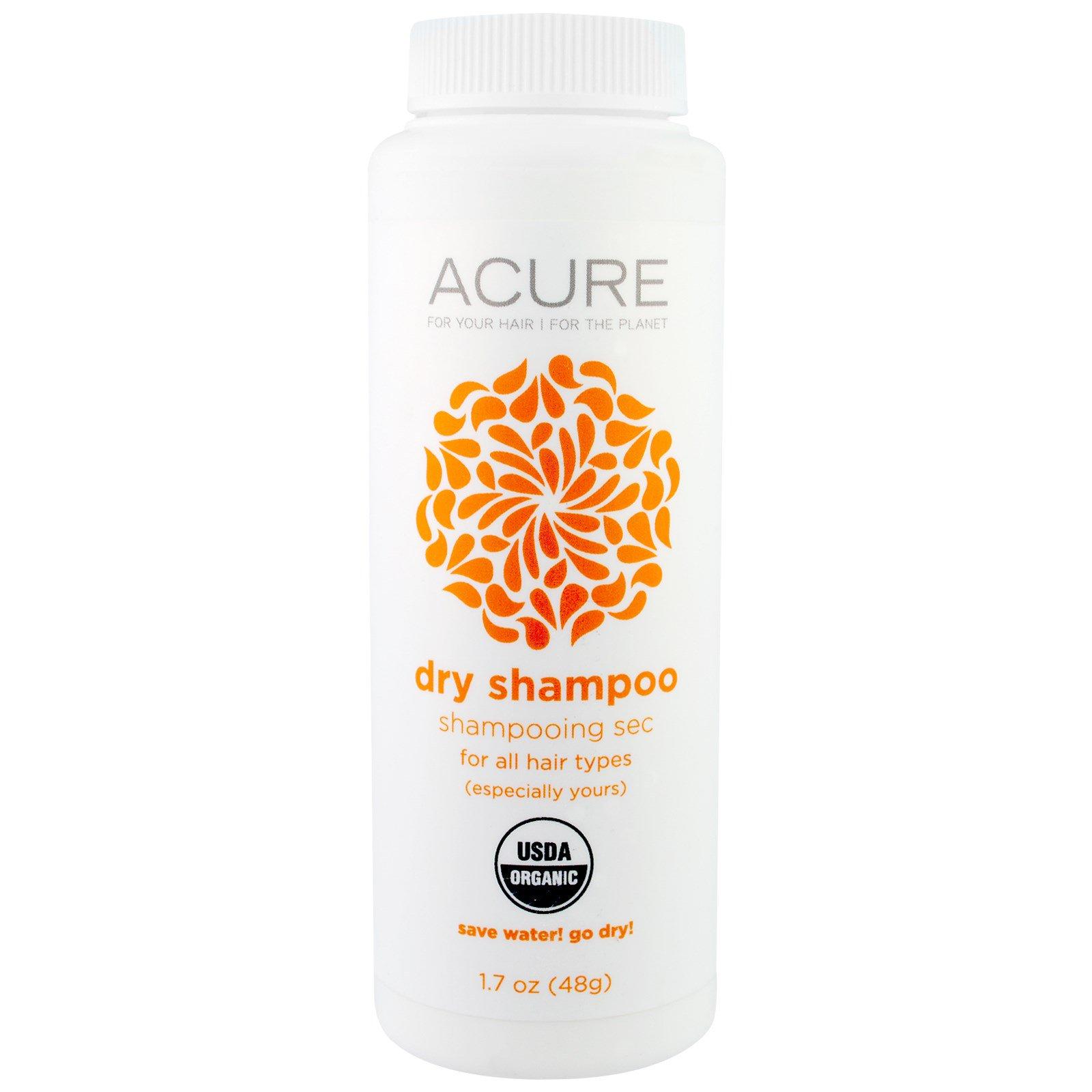 Acure Organics, Органический сухой шампунь, 1.7 унц. (48 г)
