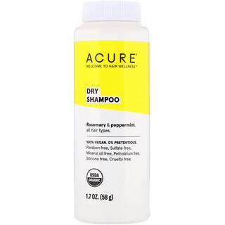 Acure, Dry Shampoo, Rosemary & Peppermint, 1.7 oz (58 g)