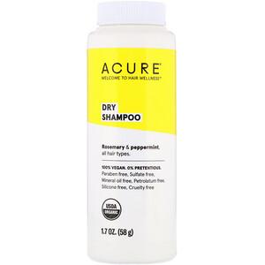 Акьюр Органикс, Dry Shampoo, Rosemary & Peppermint, 1.7 oz (58 g) отзывы покупателей
