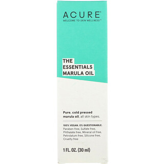 Acure, The Essentials Marula Oil, 1 fl oz (30 ml)