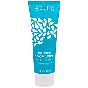 Acure Organics, Гель для душа, стимуляция роста клеток, с облепихой + Коэнзим Q10, 8 жидких унций (236 мл) купить на iHerb