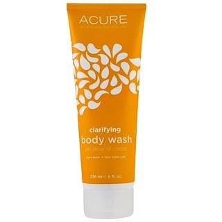 Acure Organics, Gel de ducha clarificante, Menta Pura + Células madre de Lilas, 8 fl oz (235 ml)
