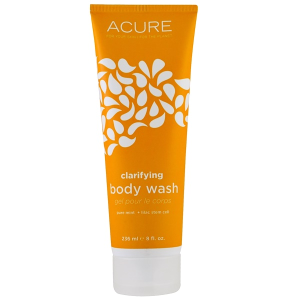 Acure, Clarifying Body Wash, Pure Mint + Lilac Stem Cell, 8 fl oz (235 ml) (Discontinued Item)