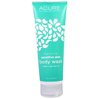 Acure Organics, Gel de baño para pieles sensibles, sin perfume, 8 fl oz (235 ml)