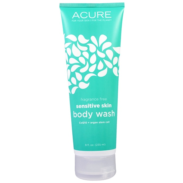 Acure, Sensitive Skin Body Wash, Fragrance Free, 8 fl oz (235 ml) (Discontinued Item)