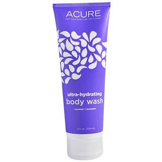 Acure Organics, Gel de baño, Ultra-hidratante, coco + calabaza, 8 fl oz (235 ml)