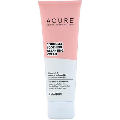 Купить Acure Глубокое успокоение, очищающий крем, 118 мл (4 ж. унц.)