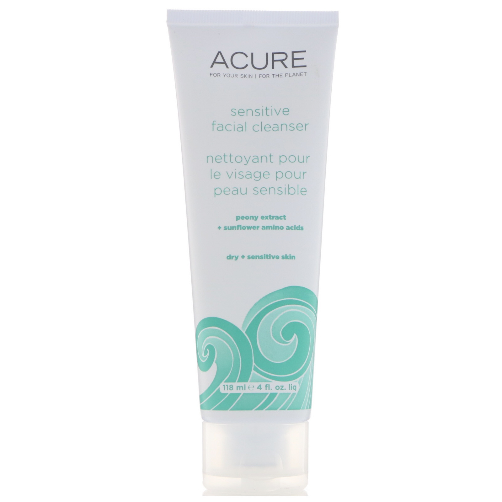 Acure Organics, Sensitive Facial Cleanser, 4 Fl Oz (118 Ml