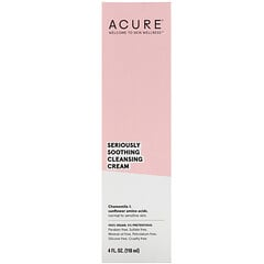 Acure, Seriously Soothing Cleansing Cream, 4 fl oz (118 ml)