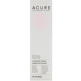 Acure Organics, Seriously Soothing, Cleansing Cream, 4 fl oz (118 ml)