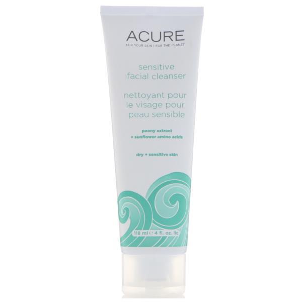 Acure Organics, Sensitive Facial Cleanser, 4 Fl Oz (118 Ml