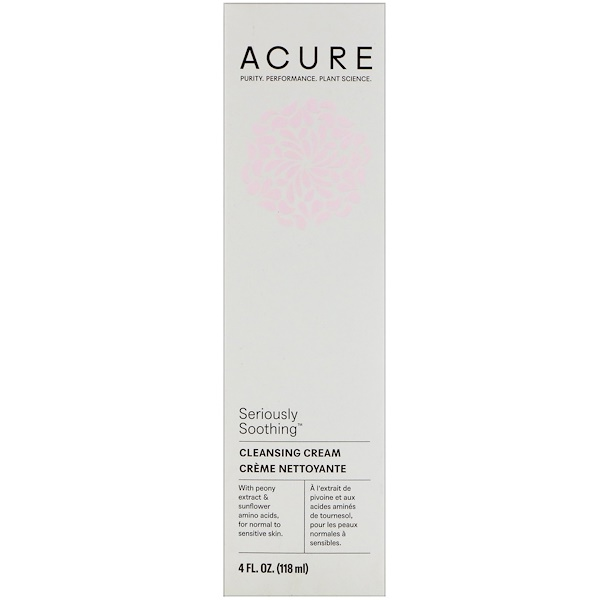 Acure, Seriously Soothing, Cleansing Cream, 4 fl oz (118 ml)