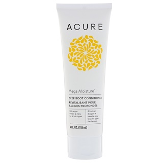 Acure Organics, Mega Moisture, Deep Root Conditioner, 4 fl oz (118 ml)