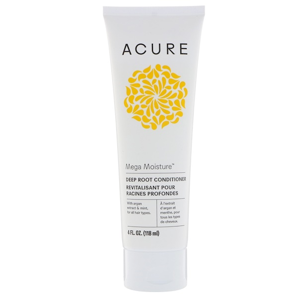 Acure, Mega Moisture, Deep Root Conditioner, 4 fl oz (118 ml) (Discontinued Item)