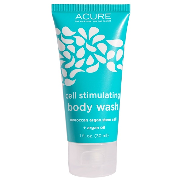 Acure, Cell Stimulating Body Wash + Argan Oil, 1 fl oz (30 ml) (Discontinued Item)