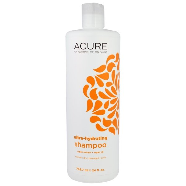Acure, Shampoo, Ultra-Hydrating, Argan Extract + Argan Oil, 24 fl oz (709.7 ml) (Discontinued Item)