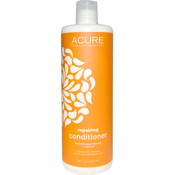 Acure Organics, Repairing Conditioner, Moroccan Argan Stem Cell + Argan Oil, 24 fl oz (709.76 ml) (Discontinued Item)