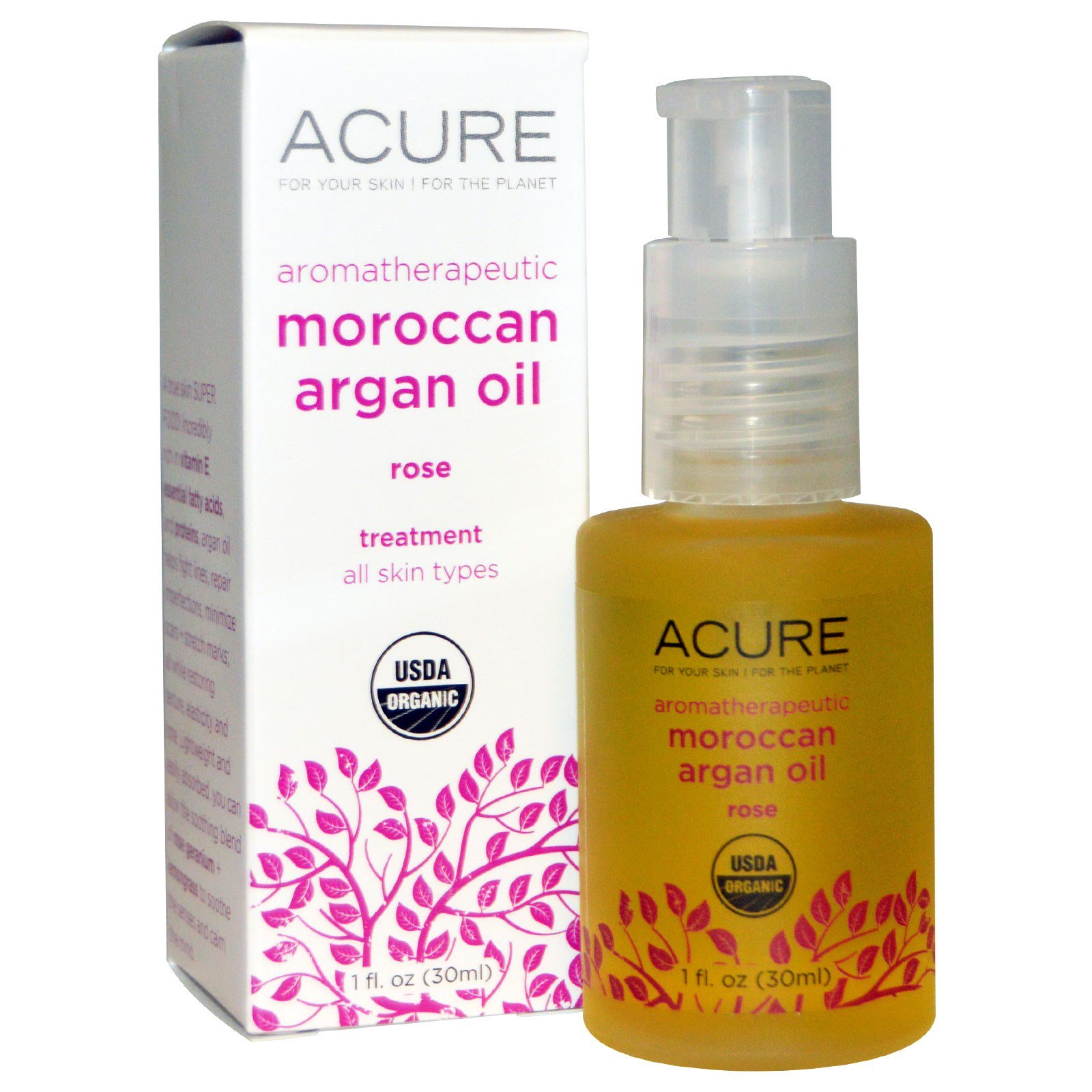Acure Organics, Aromatherapeutic Moroccan Argan Oil, Rose
