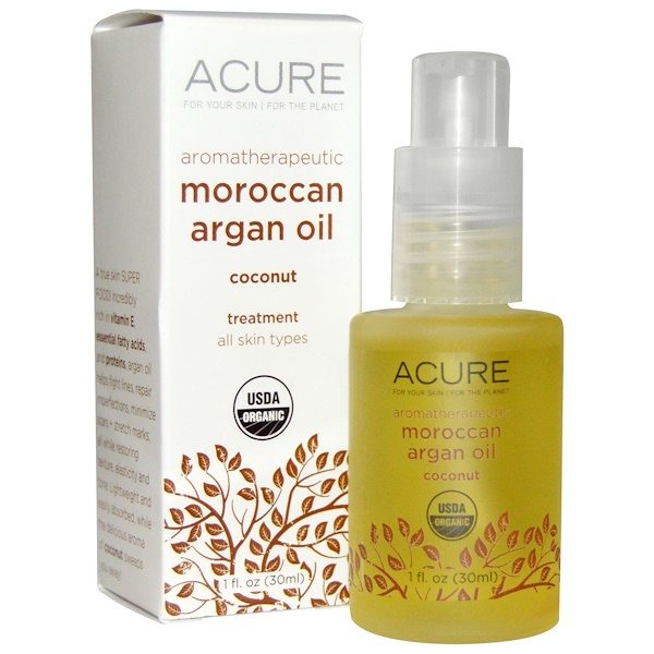 Acure, Aromatherapeutic Moroccan Argan Oil, Coconut, 1 fl oz (30 ml) (Discontinued Item)