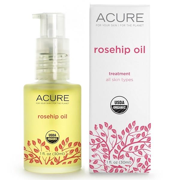 Acure, Rosehip Oil, Treatment, 1 fl oz (30 ml) (Discontinued Item)