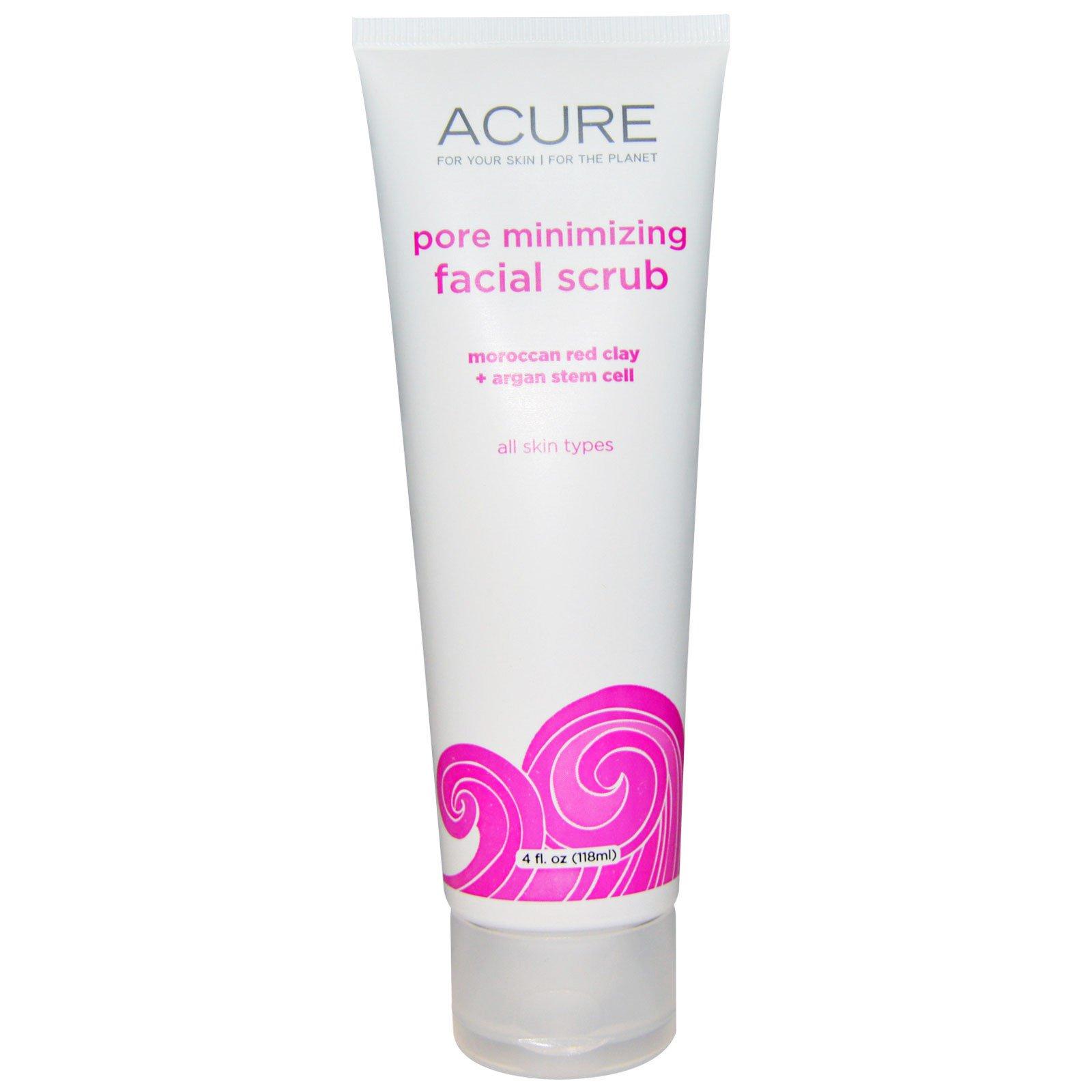 Acure, Pore Minimizing Facial Scrub, 4 Fl Oz (118 Ml)