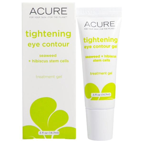 Acure, Tightening Eye Contour, Seaweed + Hibiscus Stem Cells, 0.5 fl oz (14.7 ml) (Discontinued Item)