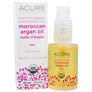 Acure Organics, Aromatherapeutic Moroccan Argan Oil, Rose, 1 fl oz (30 ml)