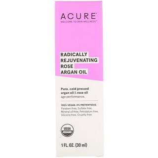 Acure, Radicalement rajeunissant, rose huile d'argan, 30 ml (1 fl oz)