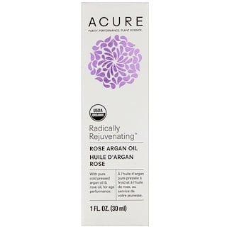 Acure Organics, Radically Rejuvenating, Rose Argan Oil, 1 fl oz (30 ml)