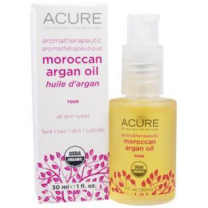 Acure Organics, Марокканское аргановое масло для ароматерапии, с шиповником, 1 жидкая унция (30 мл) купить на iHerb