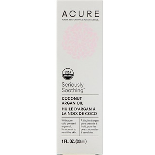 Acure, Seriously Soothing, Coconut Argan Oil, 1 fl oz (30 ml)