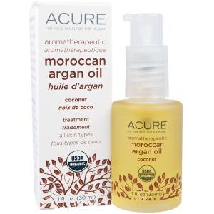 Acure Organics, Марокканское аргановое масло для ароматерапии, кокосовое, 1 жидкая унция (30 мл) купить на iHerb