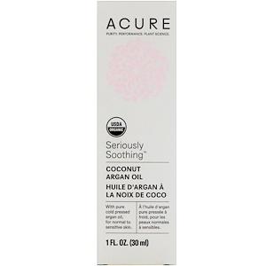 Акьюр Органикс, Seriously Soothing, Coconut Argan Oil, 1 fl oz (30 ml) отзывы покупателей