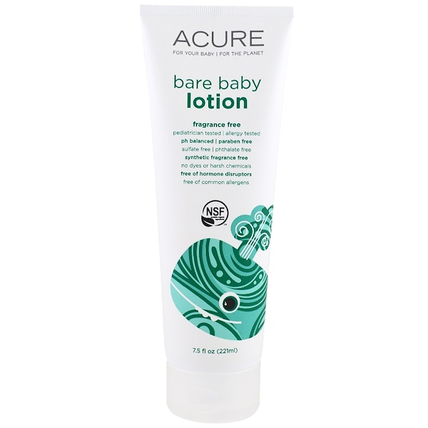 Acure, Bare Baby Lotion, Fragrance Free, 7.5 fl oz (221 ml) (Discontinued Item)